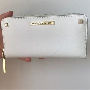 "White ""ava"" zip Rebecca Minkoff wallet"